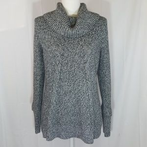 Calvin Klein thick cable knit cowl neck sweater
